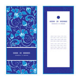Vector dark blue turkish floral vertical frame Stock Photo