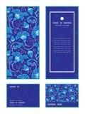Vector dark blue turkish floral vertical frame Royalty Free Stock Image