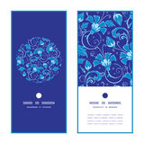 Vector dark blue turkish floral vertical round Stock Photo