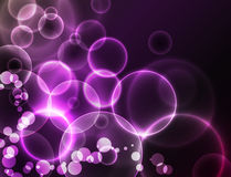 Vector dark bokeh background Royalty Free Stock Image