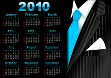 Vector dark business calendar Stock Photos