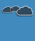 Vector dark clouds Stock Photography