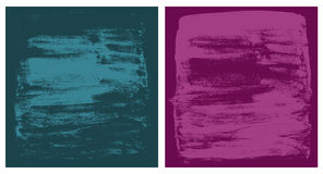 Vector dark cyan and pink grunge textures Stock Photo
