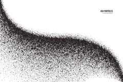 Vector Dark Gray Ash Particles on White Background Stock Photo