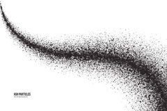 Vector Dark Gray Ash Particles on White Background Royalty Free Stock Photo