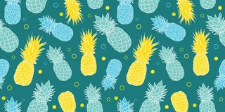 Vector dark green, blue and yellow summer tropical seamless pattern background. Great as a textile print, party Stock Photography