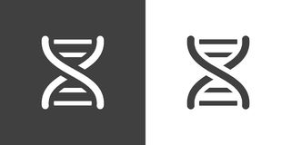 Vector dark grey dna helix icon Royalty Free Stock Photo