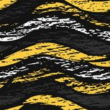 Vector dark grunge seamless pattern. Abstract horizontal shapes with texture. Urban art style. Trendy background in royalty free stock images