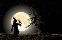 Vector. Dark halloween illustration Royalty Free Stock Photography