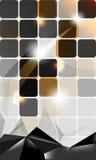 Vector dark metallic concept background design Stock Photos
