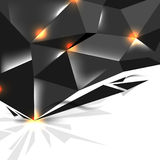 Vector dark metallic concept background design Stock Photography