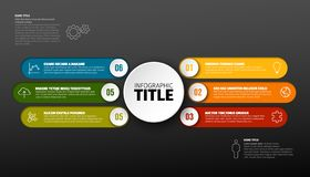 Vector multipurpose Infographic template Royalty Free Stock Photography