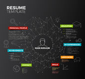 Vector dark original minimalist cv  Stock Images