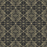 Vector dark seamless pattern with interweaving of thin lines. Stock Images