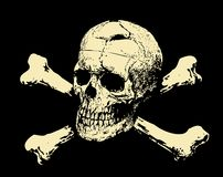 Vector. Dark skull and crossbones royalty free stock photos