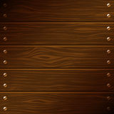 Vector dark wooden boards Stock Photography