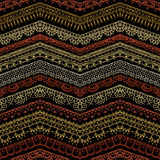 Vector dark zigzag croched seamless pattern. Stock Images