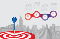 Vector dart aiming at the business target,business concept. Ilustration EPS10 Stock Image