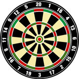 Vector dart board Stock Images