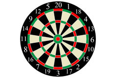 Vector dart board. On white background Royalty Free Stock Images
