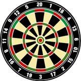 Vector dartboard Stock Afbeeldingen