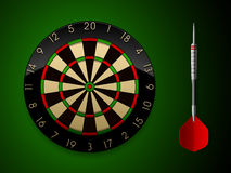 Vector Dartboard with Dart Royalty Free Stock Photo