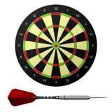 Vector dartboard met pijltje Royalty-vrije Stock Foto