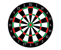 Vector dartboard with numbered segments. Dartboard () is a circular board marked with numbered segments, used as a target in the game of darts Royalty Free Stock Image