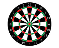 Vector dartboard with numbered segments. Dartboard () is a circular board marked with numbered segments, used as a target in the game of darts Royalty Free Stock Images