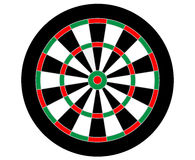 Vector dartboard without numerals (used as a target in the game of darts) Stock Photography