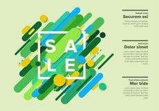 Vector das abstrakte Verkaufsplakat, das von den großen Farblinien gemacht wird Lizenzfreie Stockfotos