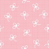 Vector das einheitliche nette Gitter, das mit nahtlosem Muster der Blume kariert ist Stock Abbildung