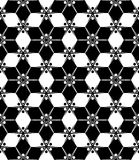 Vector das moderne nahtlose Blumen Geometriemuster, Schwarzweiss-Zusammenfassung Lizenzfreies Stockbild