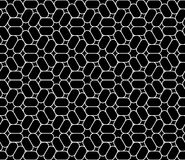 Vector das moderne nahtlose heilige trippy Geometriemuster, Schwarzweiss-Zusammenfassung Stockbild
