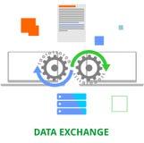 Vector - data exchange Stock Images