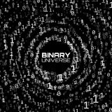 Vector data flow visualization. Grayscale big data flow as binary numbers strings twisted in infinity tunnel. Royalty Free Stock Images