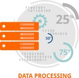 Vector - data processing Royalty Free Stock Images