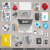 Vector data Protection style. set 9 Stock Image