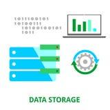 Vector - data storage Stock Image