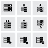 Vector database icon set Royalty Free Stock Photography