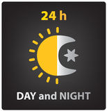 Vector day and night icon Stock Photos