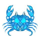 Vector de ÑŒcrab del 'del ‡ Ð°Ñ de ПÐ?Ñ, mar animal, diseño crustáceo, stock de ilustración