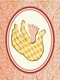 Vector de aankondigingskaart van het babymeisje Royalty-vrije Stock Afbeelding