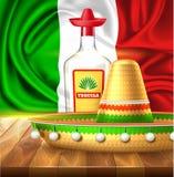 Vector de affichebanner van de cincode Mayo Mexicaanse partij