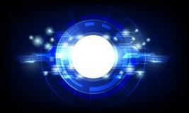 Vector de alta tecnología geométrico del concepto de la conexión del circuito del extracto libre illustration