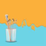 Vector de Art Painting Brush Design Background Imagen de archivo libre de regalías