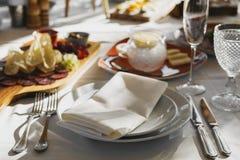 Vector de banquete servido fotos de archivo libres de regalías