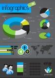 Vector de bedrijfs van Infographics Royalty-vrije Stock Foto's