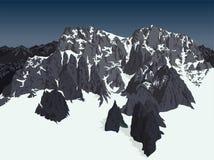 Vector de bergenachtergrond van de alpen van Himalayagebergte royalty-vrije illustratie