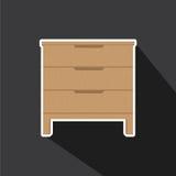 Vector de cajones stock de ilustración